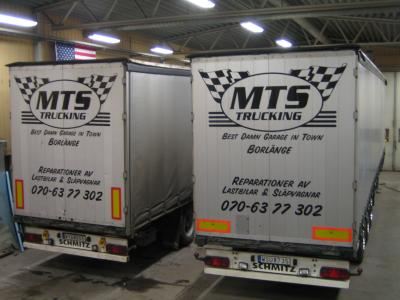 MTS Trucking Borlänge Service Reparation Verkstad Dubbelplansvagn Dubbeldäckare Knorr Wabco VAK