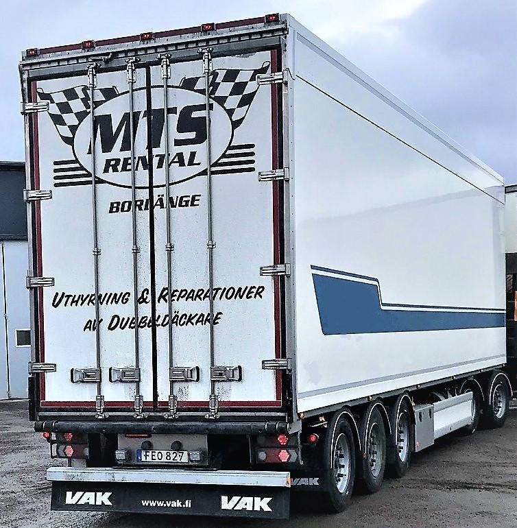 MTS Trucking Borlänge Axelmätning Service Reparation Uthyrning Verkstad Dubbelplansvagn SKAB VAK